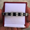 8.17ctw Art Deco Diamond and Sapphire Flexible Link Bracelet 19