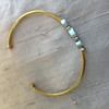 .94ctw Pear and Marquise 3-Stone Bangle 18