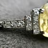 9.50ct (est) Art Deco Yellow Sapphire Bracelet 7