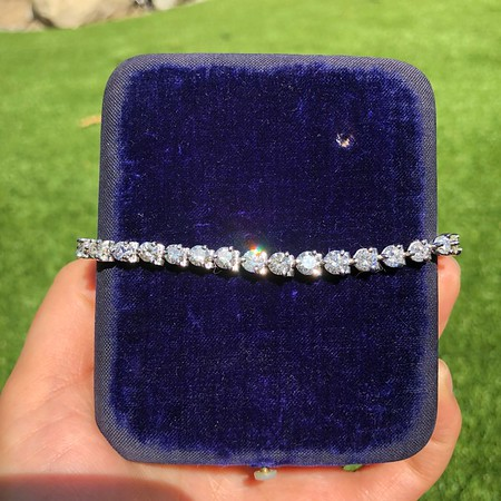 9.50ctw Round Brilliant Diamond Tennis Bracelet