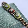 2.14ctw Antique Diamond and Enamel Bracelet 0