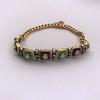 2.14ctw Antique Diamond and Enamel Bracelet 4