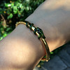 Snake-Motif Yellow Gold Bangle 14