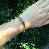 Snake-Motif Yellow Gold Bangle 13