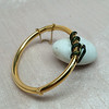 Snake-Motif Yellow Gold Bangle 4