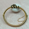 Snake-Motif Yellow Gold Bangle 2