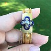 Victorian Diamond and Enamel Fancy Mesh Bracelet 16