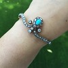 2.65ctw Victorian Turquoise and Rose Cut Diamond Tiara Bangle 27