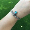 2.65ctw Victorian Turquoise and Rose Cut Diamond Tiara Bangle 22