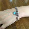 2.65ctw Victorian Turquoise and Rose Cut Diamond Tiara Bangle 12