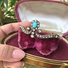 2.65ctw Victorian Turquoise and Rose Cut Diamond Tiara Bangle 3