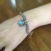 2.65ctw Victorian Turquoise and Rose Cut Diamond Tiara Bangle 2