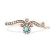 2.65ctw Victorian Turquoise and Rose Cut Diamond Tiara Bangle 0
