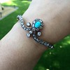 2.65ctw Victorian Turquoise and Rose Cut Diamond Tiara Bangle 6