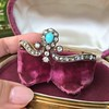 2.65ctw Victorian Turquoise and Rose Cut Diamond Tiara Bangle 16