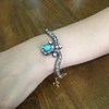 2.65ctw Victorian Turquoise and Rose Cut Diamond Tiara Bangle 25