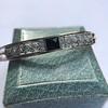 Vintage Onyx and Antique Diamond Bangle 10