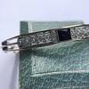 Vintage Onyx and Antique Diamond Bangle 18