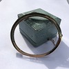 Vintage Onyx and Antique Diamond Bangle 5
