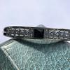 Vintage Onyx and Antique Diamond Bangle 12