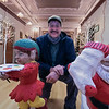 Louis Charpentier's Christmas statues were put out again for this years Festival of Lights at Leominster City Hall. The statues were starting to look a little ruff so City Hall employee Brad Bocash took the time to fix them. Here are two of the statues he fixed. SENTINEL & ENTERPRISE/JOHN LOVE