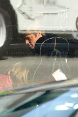 "Brad Pitt during the set of "" MONEYBALL "" in Los Angeles,California on September 29, 2010"