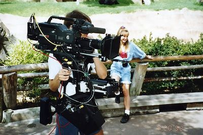 The early days with the Model one Steadicam.   (Amway)