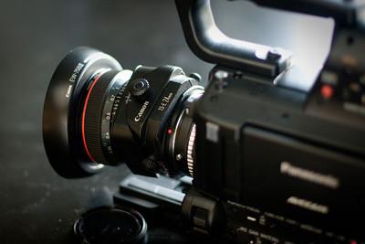Tilt and Shift lens on AF100.