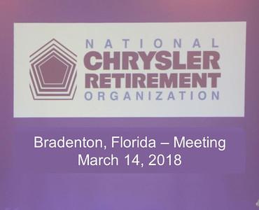 Bradenton, Florida - Meeting March 14, 2018