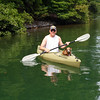 Jim kayaks and Sweetie navigates