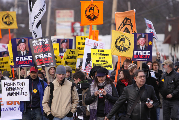 March and Rally For Bradley Manning Saturday 12/17/2011