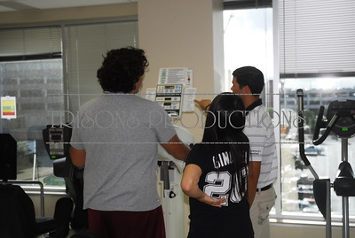 Brad's Internship at Health Link with Nolan's PT shoulder 06-11-13