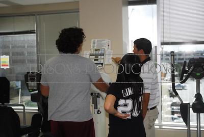 Brad's Internship at Health Link with Nolan's PT shoulder 06-11-13