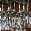 Owners Bill and Kim Brady of the new Brady's Chef Inspired Cuisine Restaurant in Leominster talked about their place on Thursday and are almost ready to open. Some of the wine glasses hang over the bar as they get ready to open. SENTINEL & ENTERPRISE/JOHN LOVE
