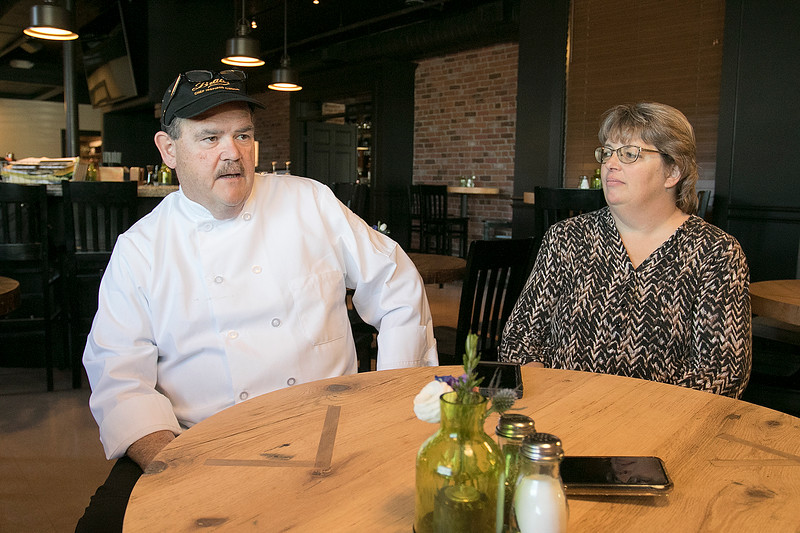 Owners Bill and Kim Brady of the new Brady's Chef Inspired Cuisine Restaurant in Leominster talked about their place on Thursday and are almost ready to open. SENTINEL & ENTERPRISE/JOHN LOVE
