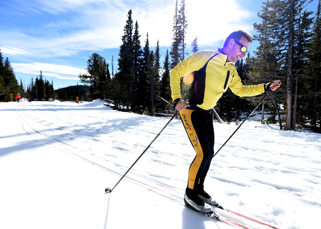 . Bavl Ondrjeck takes off to spend the afternoon cross country skiing at Brainard Lake Recreation Area on Thursday. Cliff Grassmick  Photographer November 9, 2017