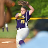 Anna Crider for Branchville delivers a pitch against Military Magnet Thursday night in the first round of the Class A state playoffs.