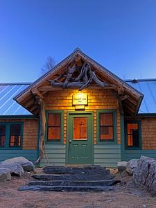 Flagstaff Hut at dusk