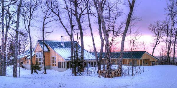 Stratton Brook Hut sunrise