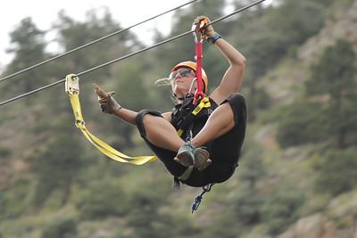 Ziplining at Colorado Adventure Center, Idaho Springs, CO