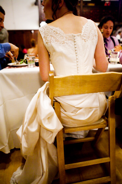Back of Dress Detail, Seated at the Reception