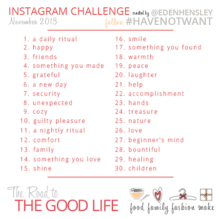 2013 Have Not Want Instagram Challenge