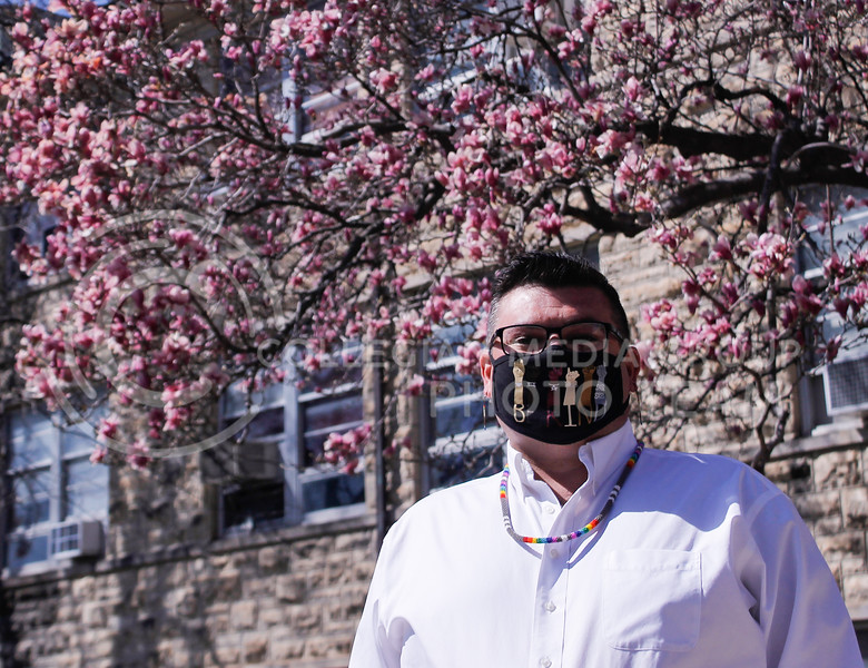 Brandon Haddock is the coordinator for the LGBT Resource Center located in Holton Hall. This year, the center is celebrating its 10th academic year on campus. (Kaylie McLaughlin   Collegian Media Group)