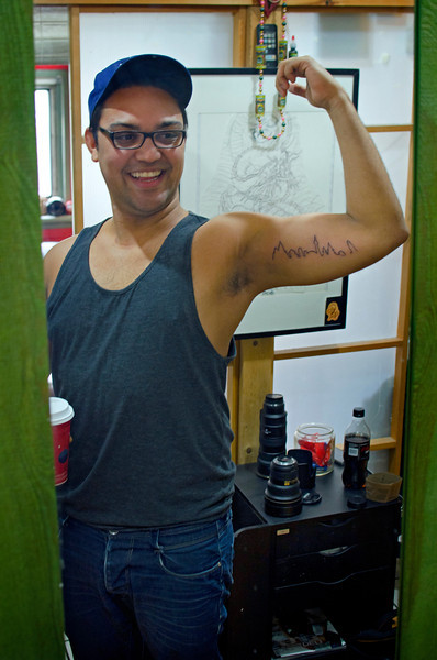 Brandon Fairley got some new ink by Tyson at Passage Tattoo on 7 December, 2012.