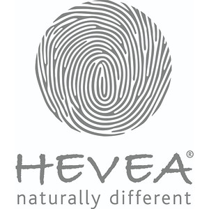 HEVEA® BIG COPERATE LOGO - Vertical + tagline grey