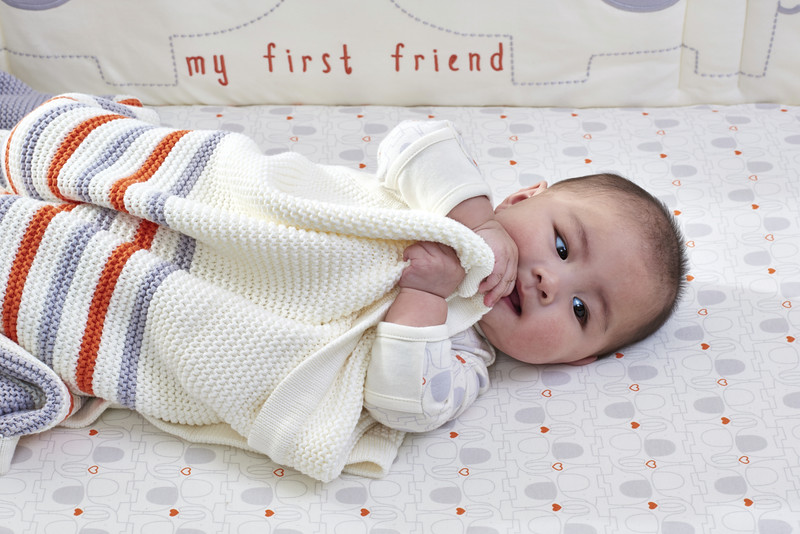 Striped Knitted Blanket (My First Friend)