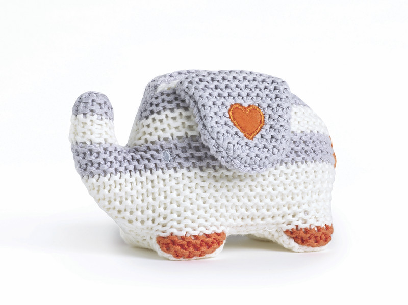 Striped Knitted Elephant (My First Friend)