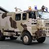 """Roepnummer:KL-1042 > 28-2041<br /> Type: TS4 LD1600 T4000<br /> Kenteken: KN-94-47<br /> Merk: DAF YA 5442DT385<br /> Opbouw: Ajax-Ziegler & Mucar<br /> Bouwjaar: 1988<br /> Standplaats: ISK Harskamp<br /> Opm.: Voorheen Koninklijke Landmacht Bedrijfsbrandweer Infanterie Schietkamp Harskamp 263 (1988-2006)<br /> In 2011 ombouw door Fa. Mucar tot zogenaamd """"dessertvoertuig""""."""