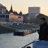 Dawn, the Captain maneuvers the ship to port in Bratislava, Croatia