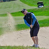 KRISTOPHER RADDER — BRATTLEBORO REFORMER<br /> Chris Huffman, of Brattleboro, Vt., chips his ball out of a sand trap while playing golf at the Brattleboro Country Club on Friday, May 8, 2020.